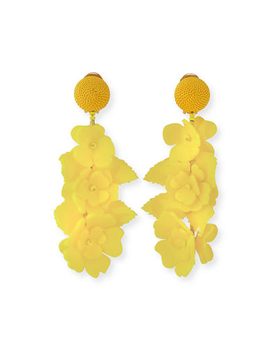 Climbing Flower Clip-On Earrings