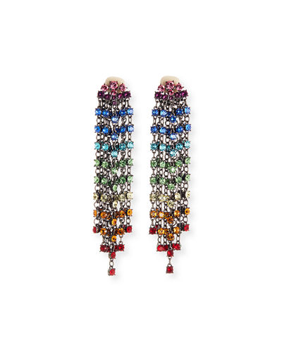 Swarovski Crystal Cascade Waterfall Clip-On Earrings