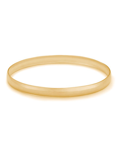 LANA 14k Gold Alias Narrow Curve Bangle Bracelet