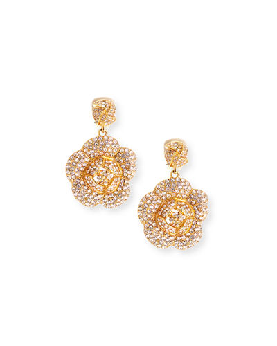 Gardenia Pave Swarovski Crystal Earrings