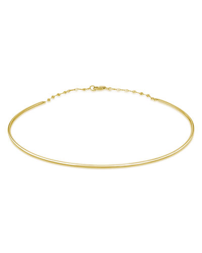 14k Thin Wire Choker Necklace