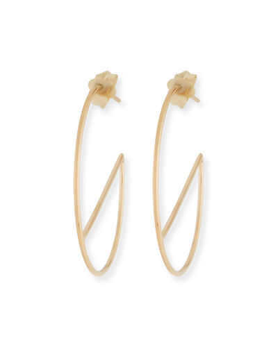 14k Eclipse Wire Hoop Earrings