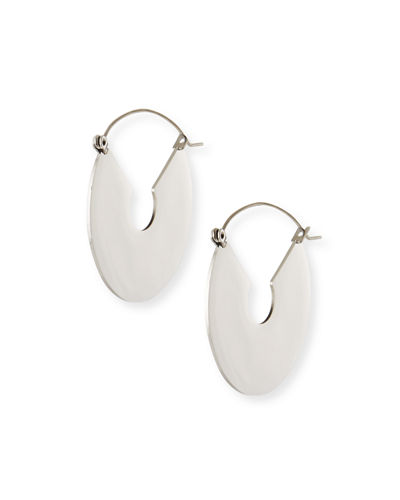 Flat Plate Hoop Earrings
