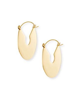 Fallon Flat Plate Hoop Earrings r03X2cN5F