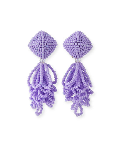 Mini Lulu Seed Bead Clip-On Earrings