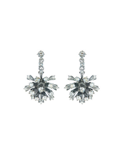 Crystal Dandelion Drop Earrings