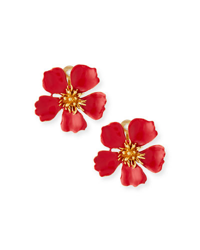 Oscar de la Renta Wildflower Clip-On Earrings