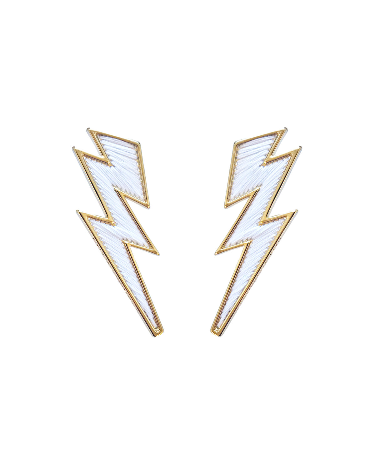 Mignonne Gavigan LIGHTNING BOLT THREAD EARRINGS