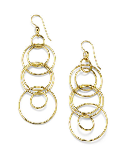 Classico 18k Gold Jet Set Earrings