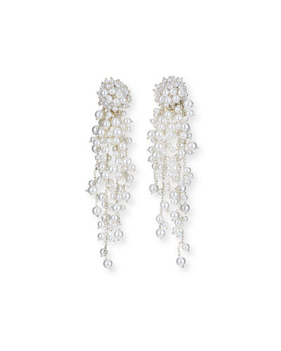 Pearly Chain Drop Earrings