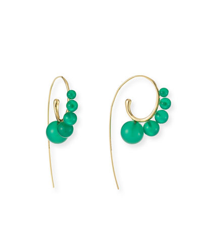 18k Gold Nova Wire Earrings