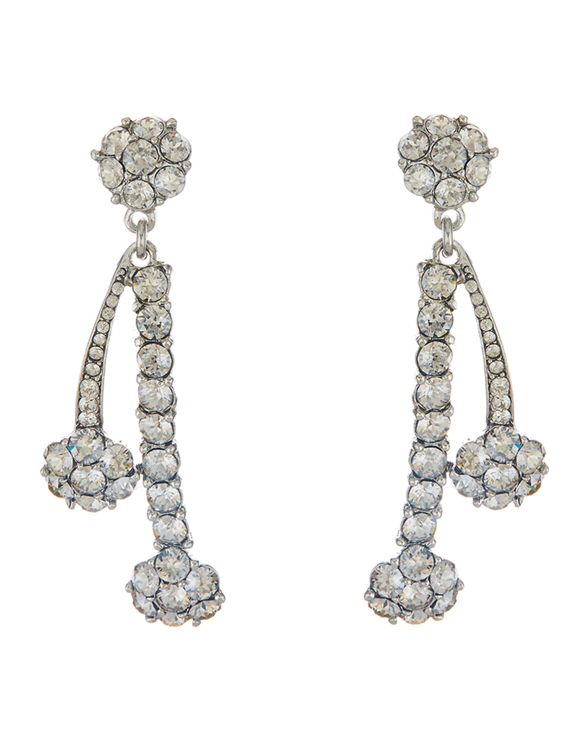 Crystal Double Drop Earrings