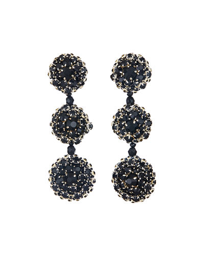 Triple Disc Clip-On Drop Earrings