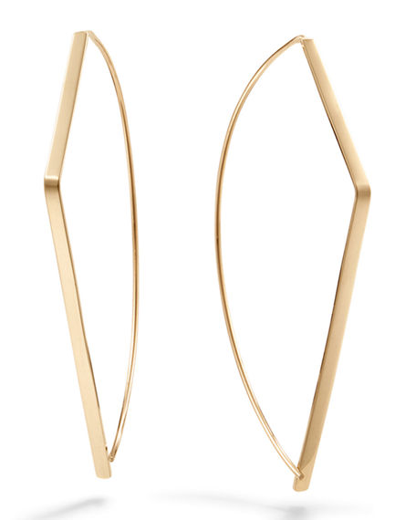 Lana  14K GOLD ANGULAR PULL-THROUGH EARRINGS