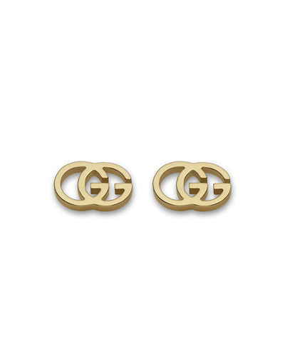 18K Gold Running G Stud Earrings