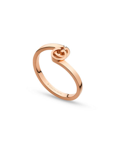 Running G Stacking Ring in 18K Rose Gold, Size 6.75