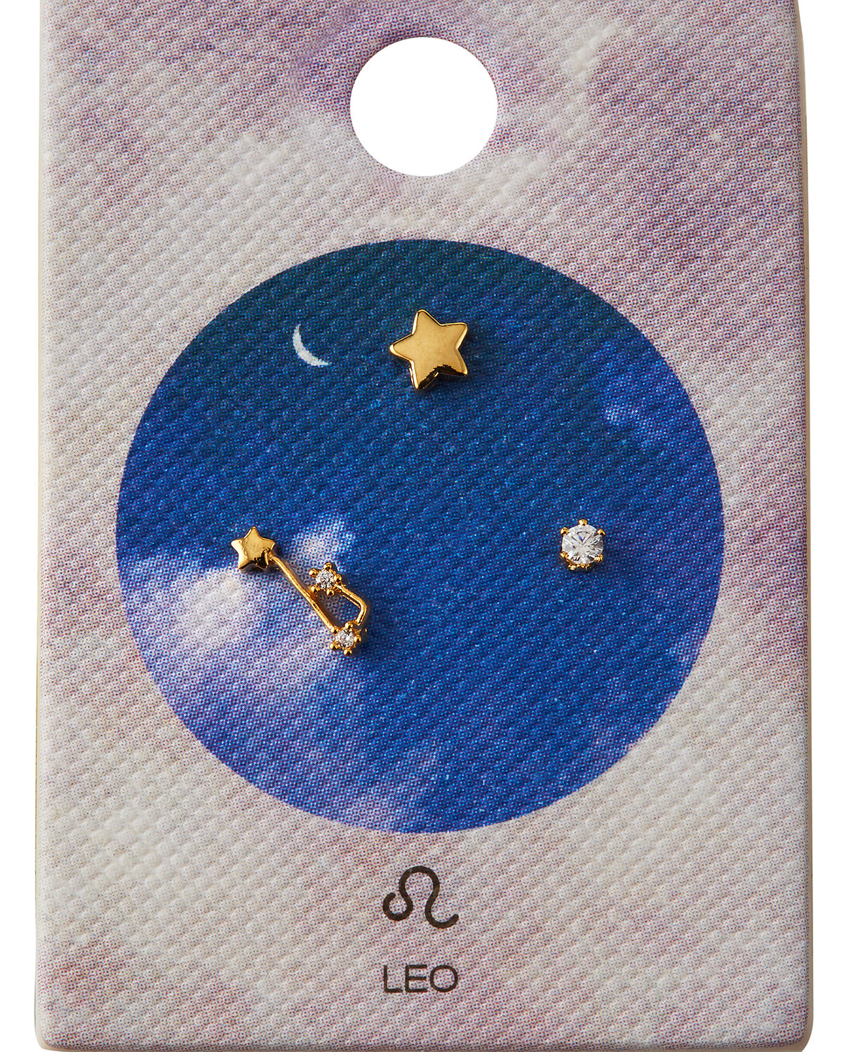 Tai Accessories ZODIAC CONSTELLATION STUD EARRINGS W/ CUBIC ZIRCONIA