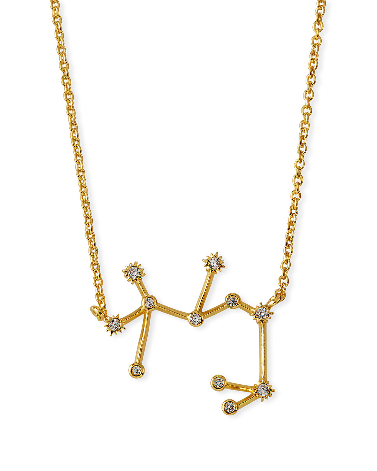 Tai Accessories ZODIAC CONSTELLATION NECKLACE W/ CUBIC ZIRCONIA