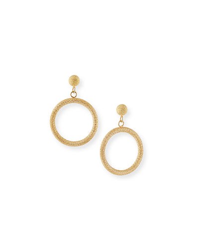 18k Small Round Gypsy Earrings