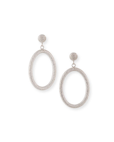 18k Small Oval Gypsy Earrings
