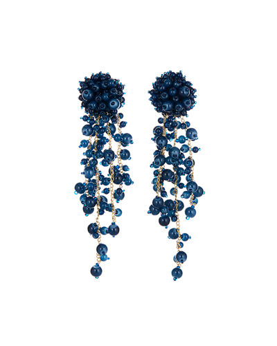 Beaded Clip Earrings