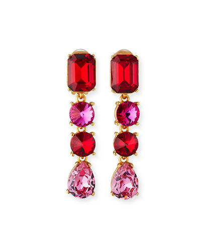 Classic Crystal Large Drop Earrings