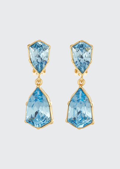 Gallery-Set Crystal Clip Earrings