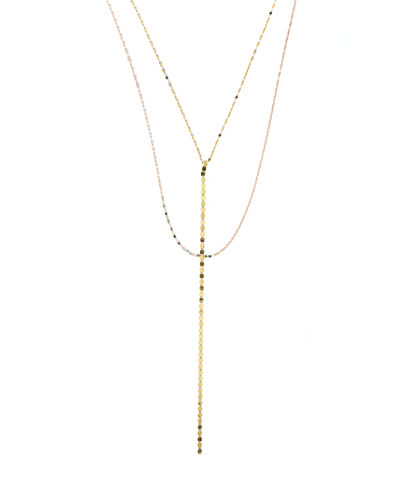 Nude Blake Chain Drop Necklace