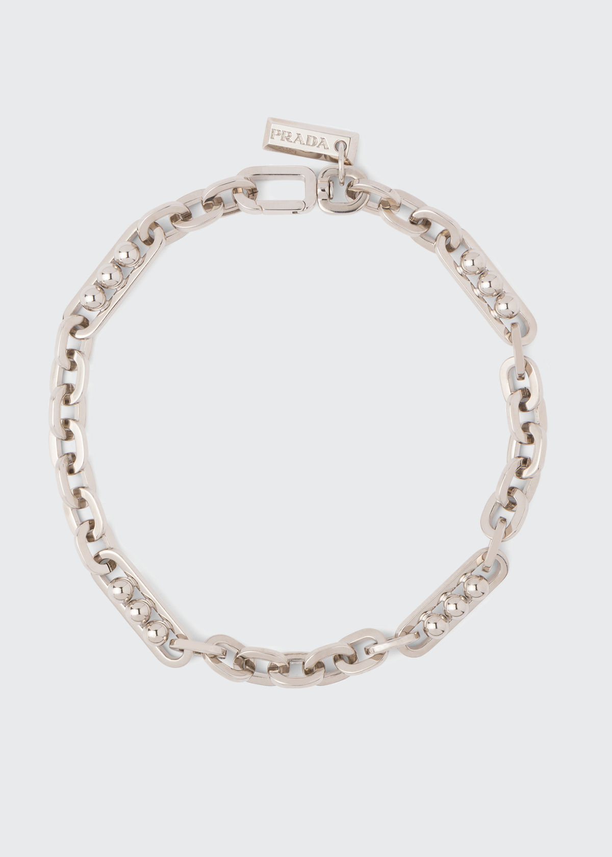 Prada SHORT CHAIN-LINK AND SPHERE NECKLACE