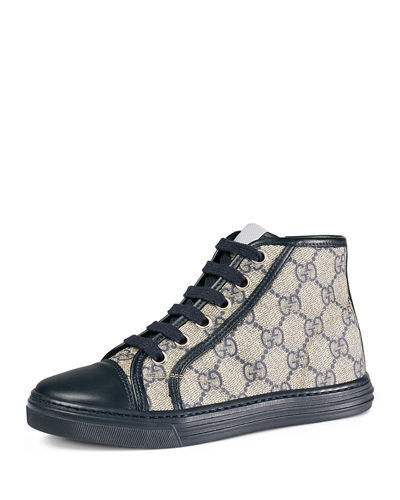 GG Supreme Canvas High-Top Sneaker, Kids' Sizes 10.5T- 2Y