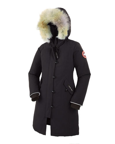 Youth Brittania Parka with Removable Fur Trim XS-XL Quick Look. BLACK  RED. Canada  Goose 05a2f4976