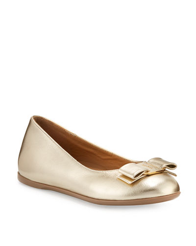 Varina Mini Leather Ballet Flats, 10T-2Y