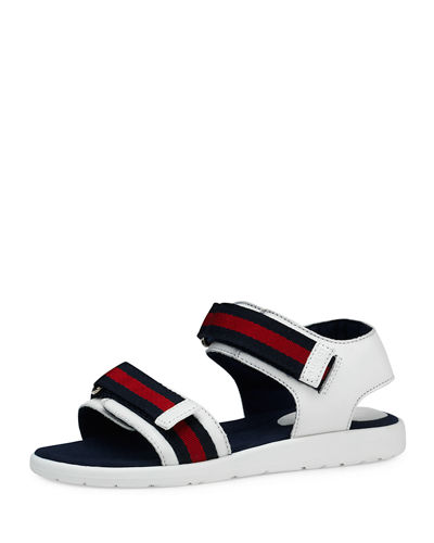 Leather Grip-Strap Sandals