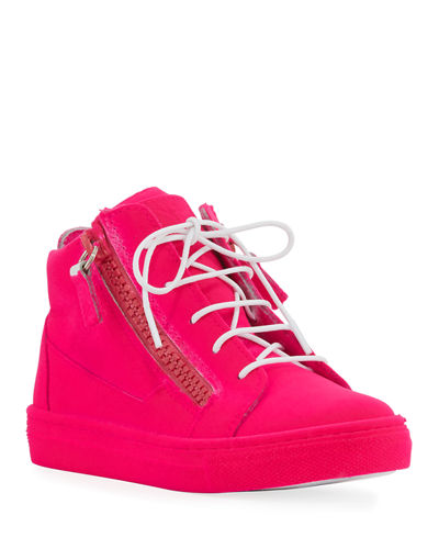 Kids' Smuggy Velvet Sneakers, Youth