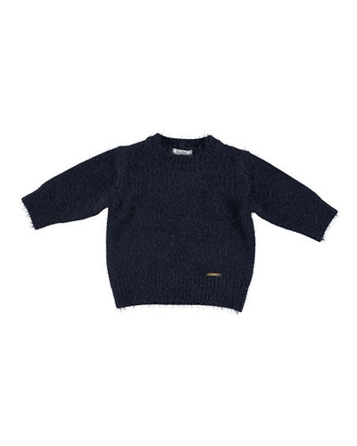 Long-Hair Knit Sweater, Size 3-7