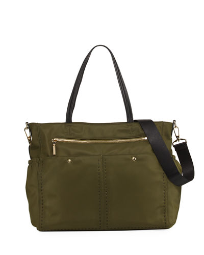 Solid Stitch Diaper Bag