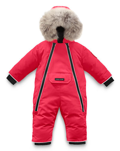 Lamb Snowsuit with Fur Trim  Size 6-24 Months