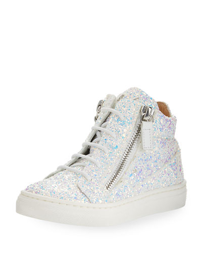 Mattglitt High-Top Glitter Sneakers  Toddler