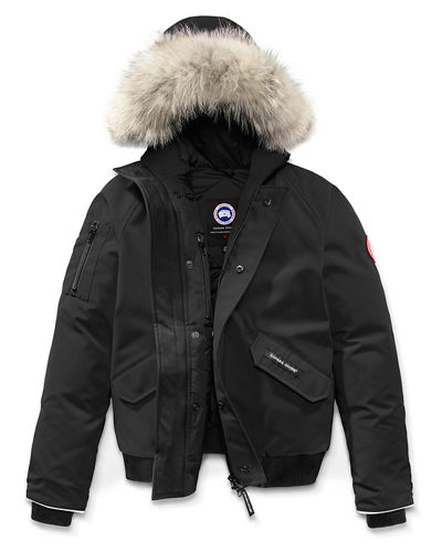 ac4b017a452 Rundle Hooded Down Bomber Jacket Size XS(6-7)-XL(12 Quick Look. BLACK. Canada  Goose