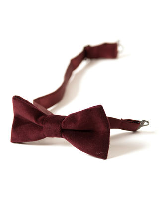 Boys' Textured Bow Tie in Red