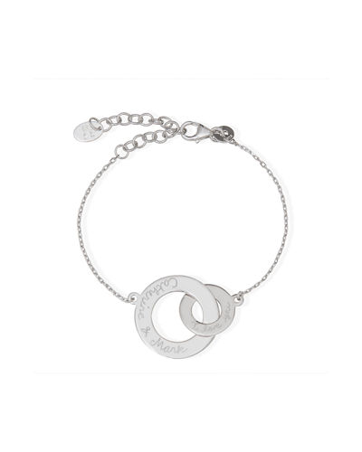 Personalized Intertwined Chain Bracelet