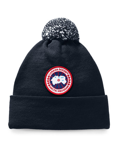 Kid's Logo Patch Pompom Hat