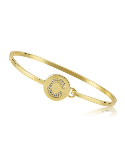 Girl's Gold-Plated Initial Bangle Bracelet
